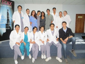 A group of medical students from Hospital Arco Iris after one of our courses.